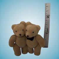 "1 3/4"" Tiny Teddy Bride and Groom"