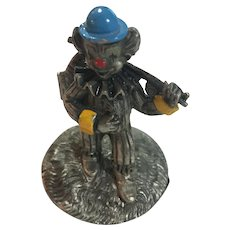 Circa 1970s George Good 'No Fishing' Fine Pewter Fisherman Clown