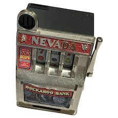 Vintage Nevada Buckaroo Bank (Non-working) Slot Machine