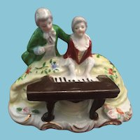 70-75 year-old, 'Made in Occupied Japan' Porcelain Ornament in a Music Salon