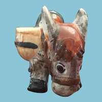 70-75 year-old, 'Made in Occupied Japan' Porcelain Donkey Planter