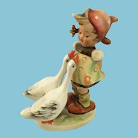 Circa 1950s Goebel 'Goose Girl' Hummel Cake Topper Figurine Marked 47 3/0