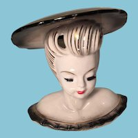 Lovely Porcelain Lady Head Vase