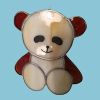 Handcrafted Stained Glass Panda Sun Catcher