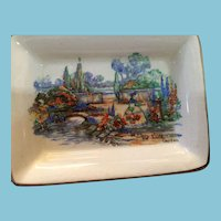 "Sandland Ware ""In an Old World Garden"" Porcelain Butter Saucer"