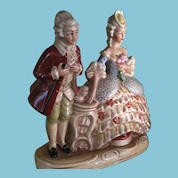 1950's Gräfenthal Porcelain Standing Figurine of a Romantic Couple
