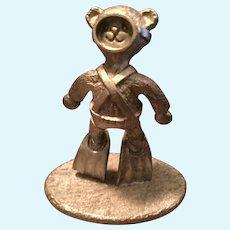 1988 Spoontiques Miniature Pewter USA Bear Scuba Diver