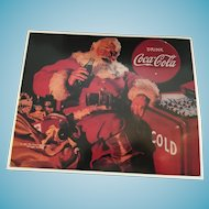 "1991 15"" x 12"" Coca Cola Santa Claus Tin Sign"