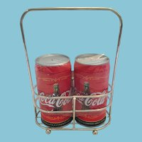 Mint Red Metal  Coca Cola Can Salt and Pepper Shakers