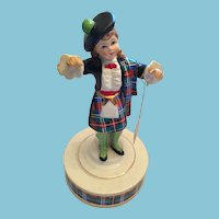 1970s  Scottish Highland Dancer Lassie Rotating Music Box