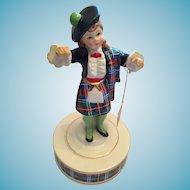 1970s  Scottish Highland Dancer Lassie Rotating Music Box