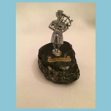 "John O' Groats 3"" Pewter-Colored Piper on Serpentine Rock"