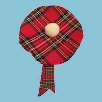 Authentic 'Royal Stewart' Plaid Scottish Tam o' Shanter
