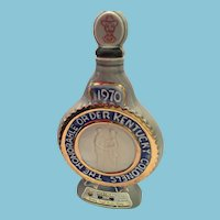 1970 Jim Beam Commemorative Decanter 'The Honorable Order Kentucky Colonel's Barbeque Bottle'