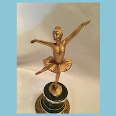 Art Deco Peltro Sculpture of a Dancing Ballerina Girl