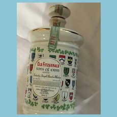 1969 'Old Fitzgerald Kentucky Bourbon' Erin Porcelain Decanter by Stitzel Weller Distillery