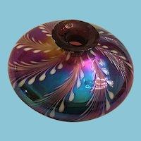 Artist-made Opaline Swirl Art Vase