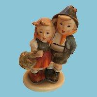 1950s Hand-Painted Vintage Goebel Hummel 'Surprise' Boy & Girl