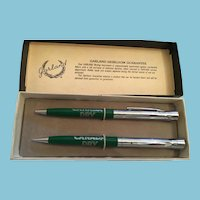 Garland Heirloom Canada Dry Bubble Top Advertising Pen and Pencil Set