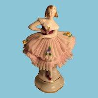 Graceful German Porcelain Ballerina Figurine