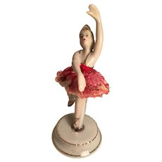 Twirling Porcelain Ballerina Marked Victoria Ceramics Japan