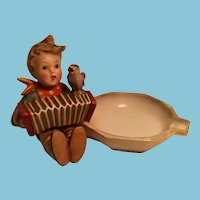 Rare 1950s - 60s Goebel 'Let's Sing!' Hummel Ashtray with Open Winged Bee