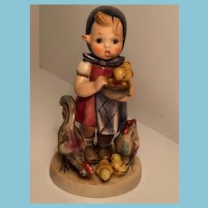 1948 Goebel 'Feeding Time' Hummel Figurine with Open-winged Bee