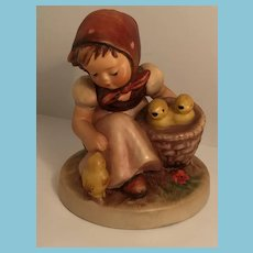 1950s-60s Goebel 'Chick Girl' Hummel Figurine with Open Winged Bee Mark
