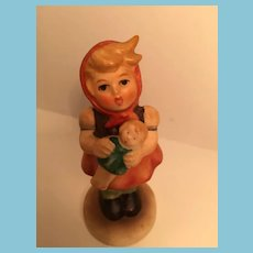 1963 Goebel 'Girl with a Doll' Hummel Figurine Marked with an Open Bee