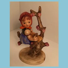 1960s Goebel 'Apple Tree Girl' Hummel figurine with Open Winged Bee Mark
