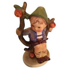 1960s Goebel 'Apple Tree Boy' Hummel Figurines with Open Winged Bee Mark