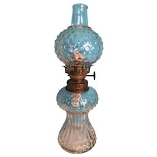 1920s Miniature Hobnail Oil Lamp