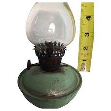 """C.W.B. 5"""" Unspillable Pixie miniature oil lamp c 1920s."""