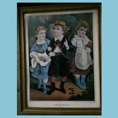 'The Little Beau' print originally published by Currier & Ives in 1872