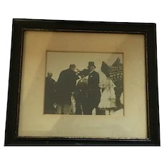 Sepia Colored Framed Photograph of the Duke and Duchess of Connaught