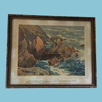 Early Canadian Seascape Print by Robert Ford Gagen, R.C.A. 1848-1926