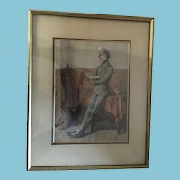 1912 Framed Numbered Print of 'Jingles' by British Artist Frank Reynolds.