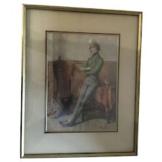 1912 Framed Numbered Print of 'Jingles' by British Artist Frank Reynolds.