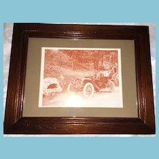 Matted 'Horseless Carriage' Photo Print and Tongue-in-Groove Frame