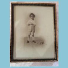 1910s-20s Framed T. Eaton Co. Studio Photo of a Young Boy by 'Siloiy'z
