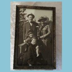 1920s-30s Framed Photo of Three Generations