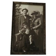 1920s-30s Framed Photo of Three Generations
