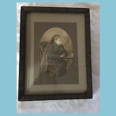 Victorian Period Photo of Elderly Lady in Widow's Weeds