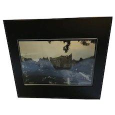 Framed Black and White Photo of the Quebec Citadel