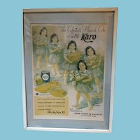 Copyright 1928 Dionne Quintuplets Easter Parade Framed Advertising