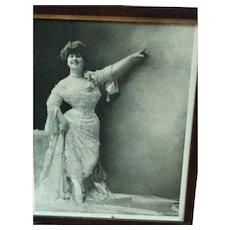 Copyright 1905 E.E. Hoskin Framed Teacher in Black and White