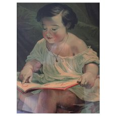 1850 True & Company Framed Print 'The Little Student'