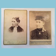 She's a Lady - Two Matted Black and White Studio Photographs