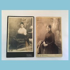 She's a Lady - Two Circa 1900s Matted Studio Photographs