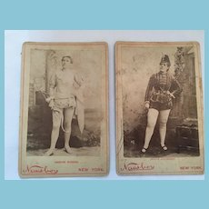 Victorian Thespians - Circa 1900s Studio Photographs Mounted on Cardboard